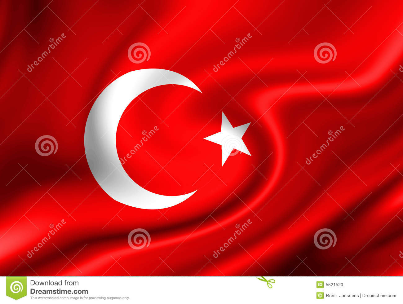 Turkish Flag Stock Photo - Image: 5521520