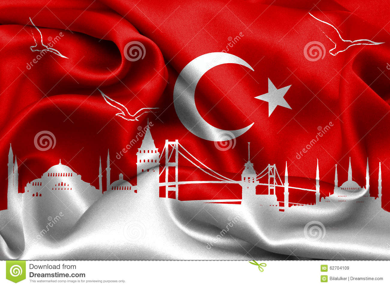 Turkish Flag Turkey Flag Design Stock Image Image Of