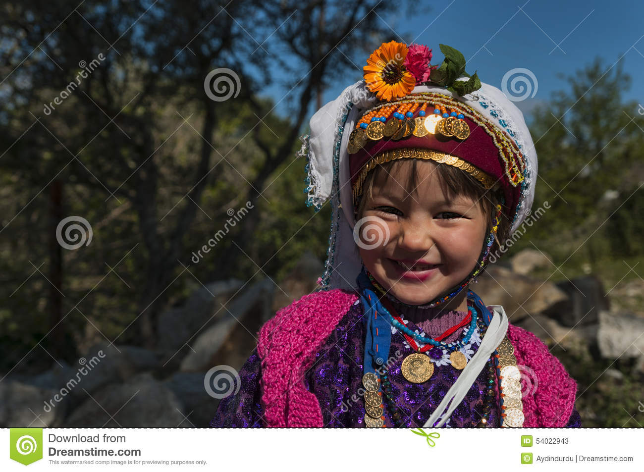 Turkish Girl In Traditional Dress Editorial Stock Photo ... Purple Happy Holidays Pictures
