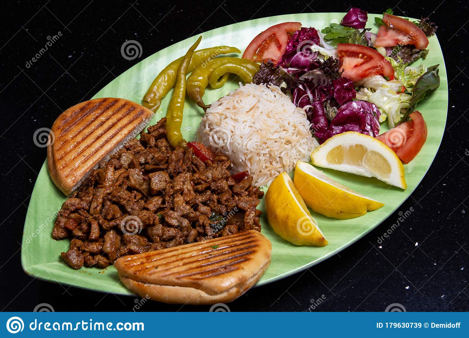Turkish Kebab Plate Stock Image Image Of Traditional 179630739