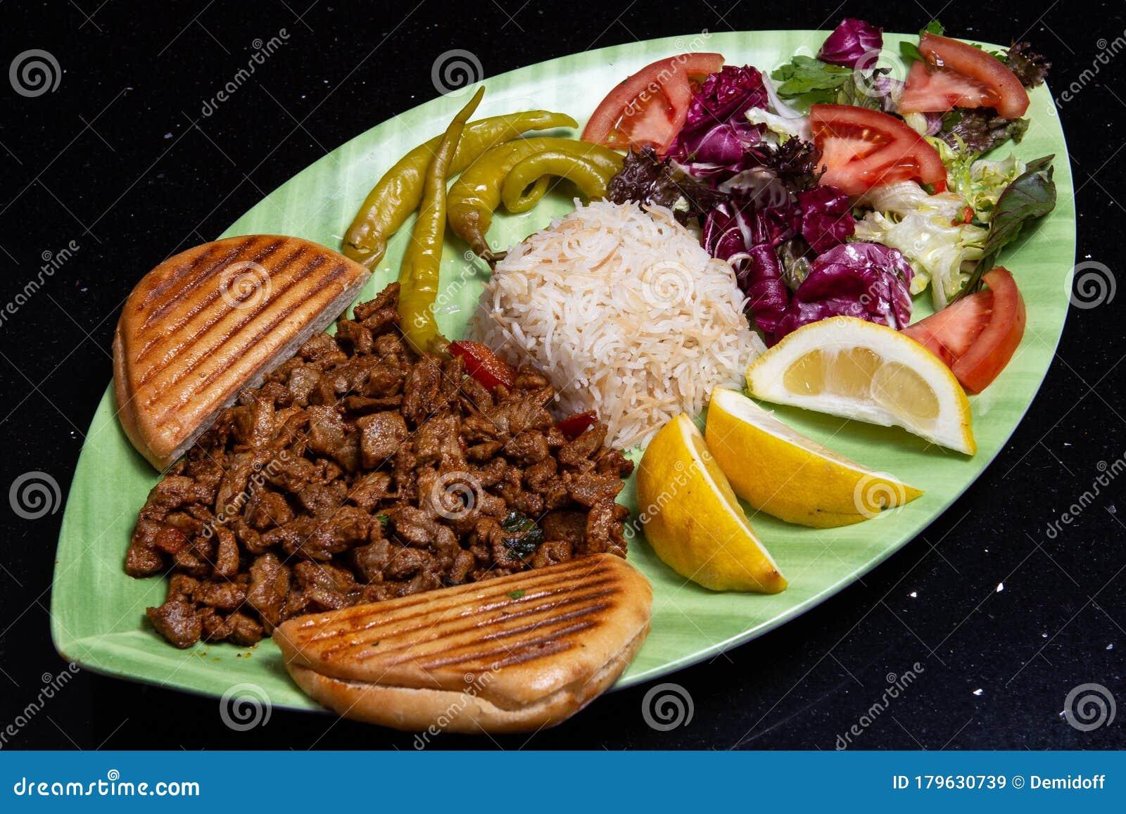 Turkish Kebab Plate Stock Image Image Of Traditional 179630739