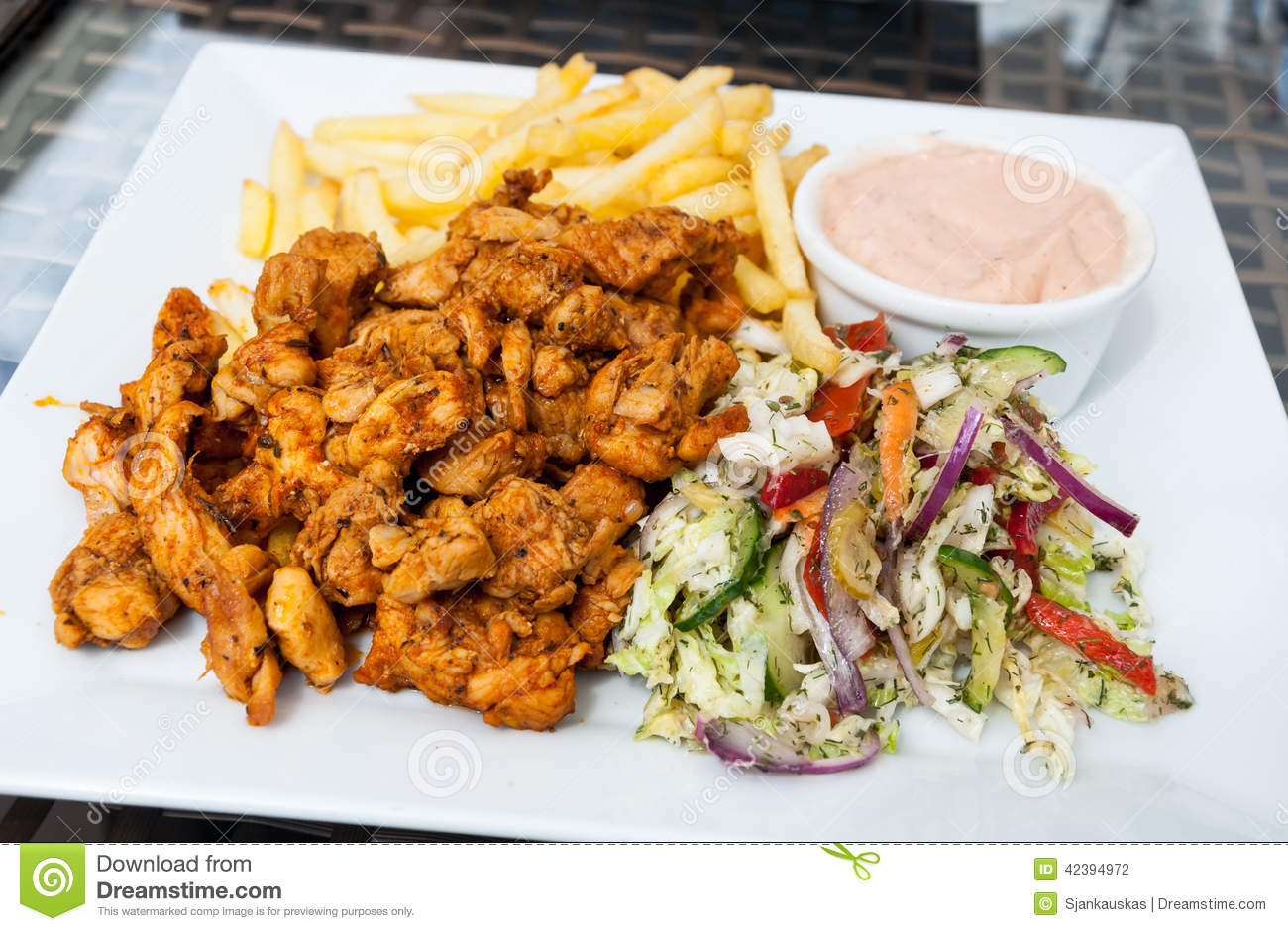 Turkish Kebab Plate Stock Photo Image Of Food Fast 42394972