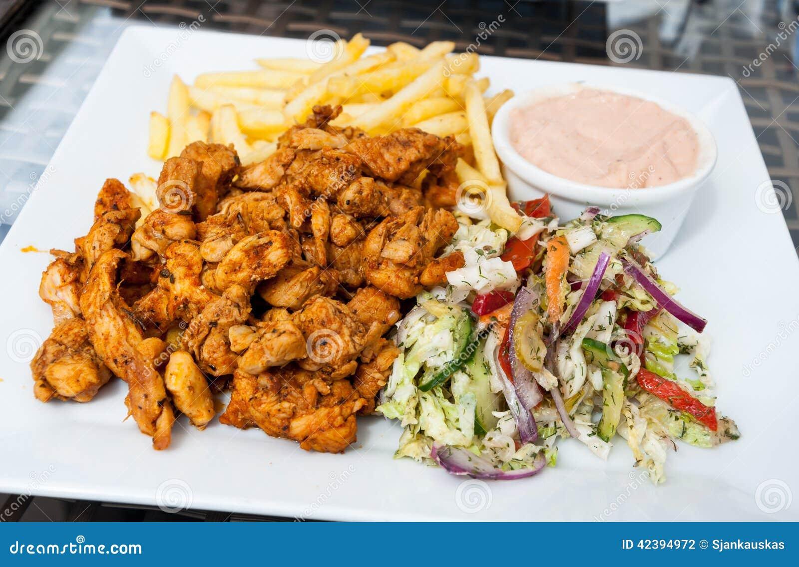 Turkish Kebab Plate Stock Photo Image Of Food Fast 42394972