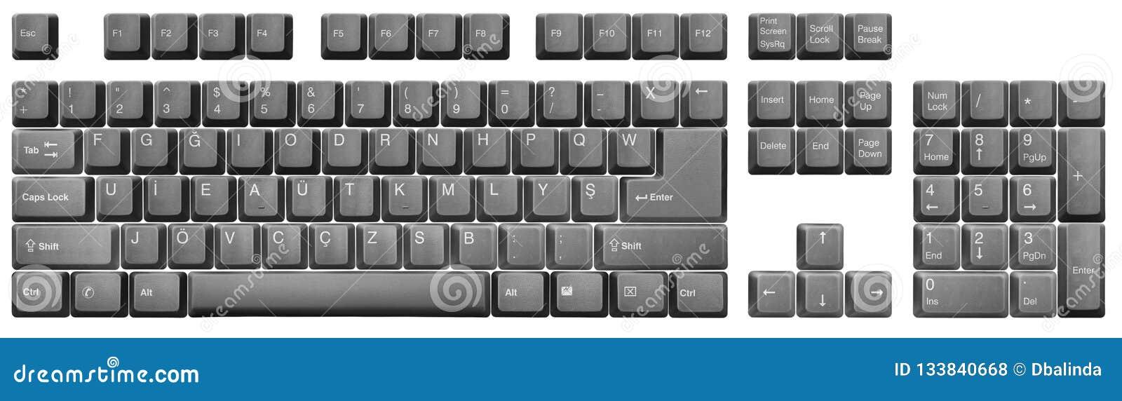 Turkish F Keyboard Black Stock Photo Image Of Keyboard 133840668