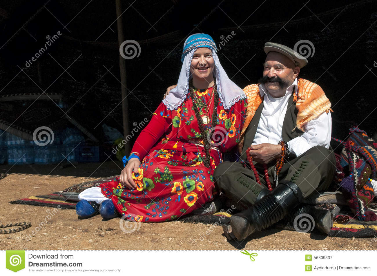 Turkish Man And Woman In Traditional Dress Editorial