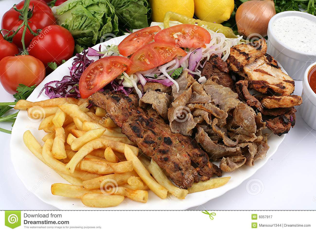 Turkish Mix Kebab Royalty Free Stock Photography - Image: 6057917