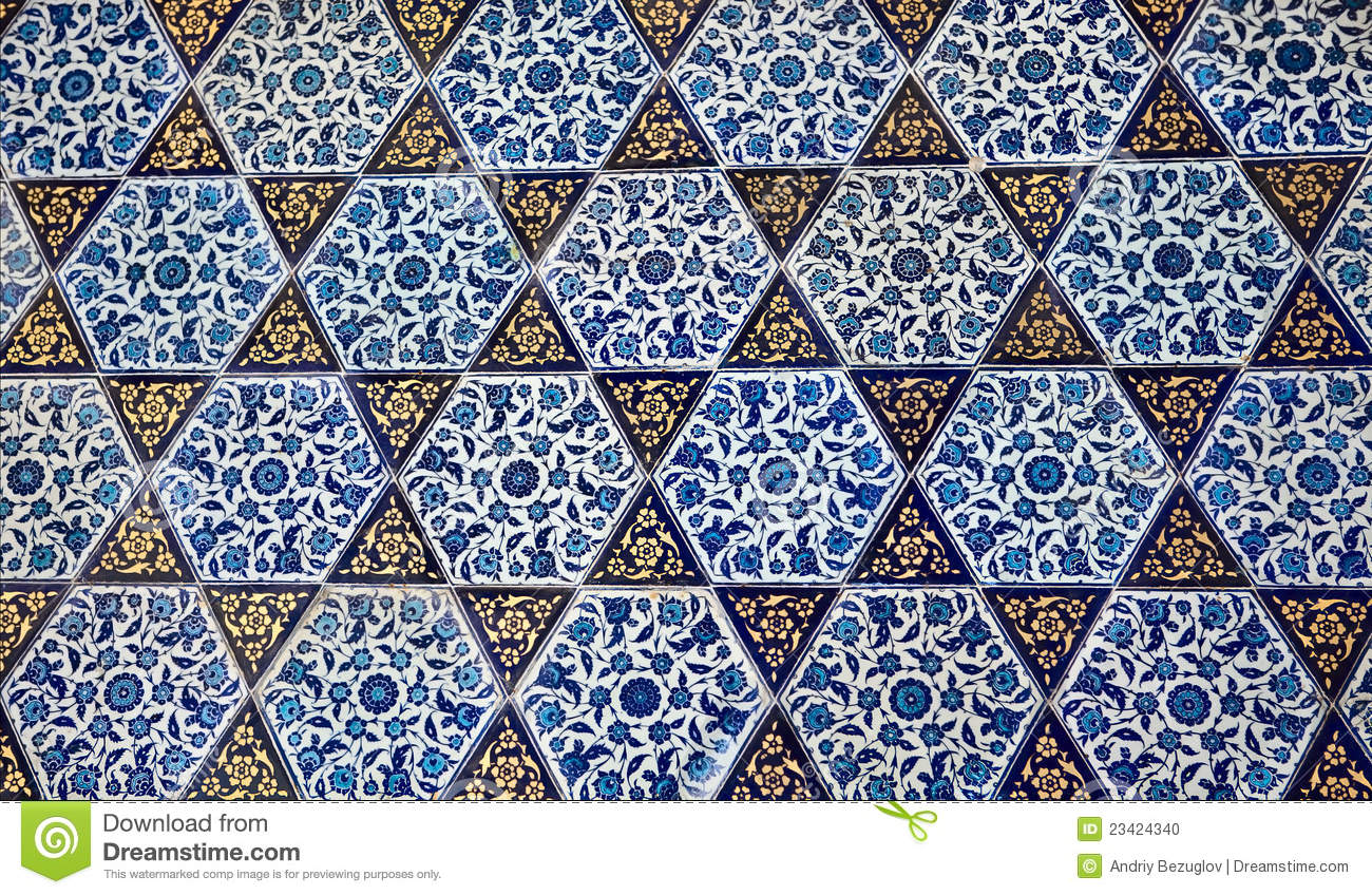 Turkish Design Wallpaper : Turkish pattern wallpaper stock photo image