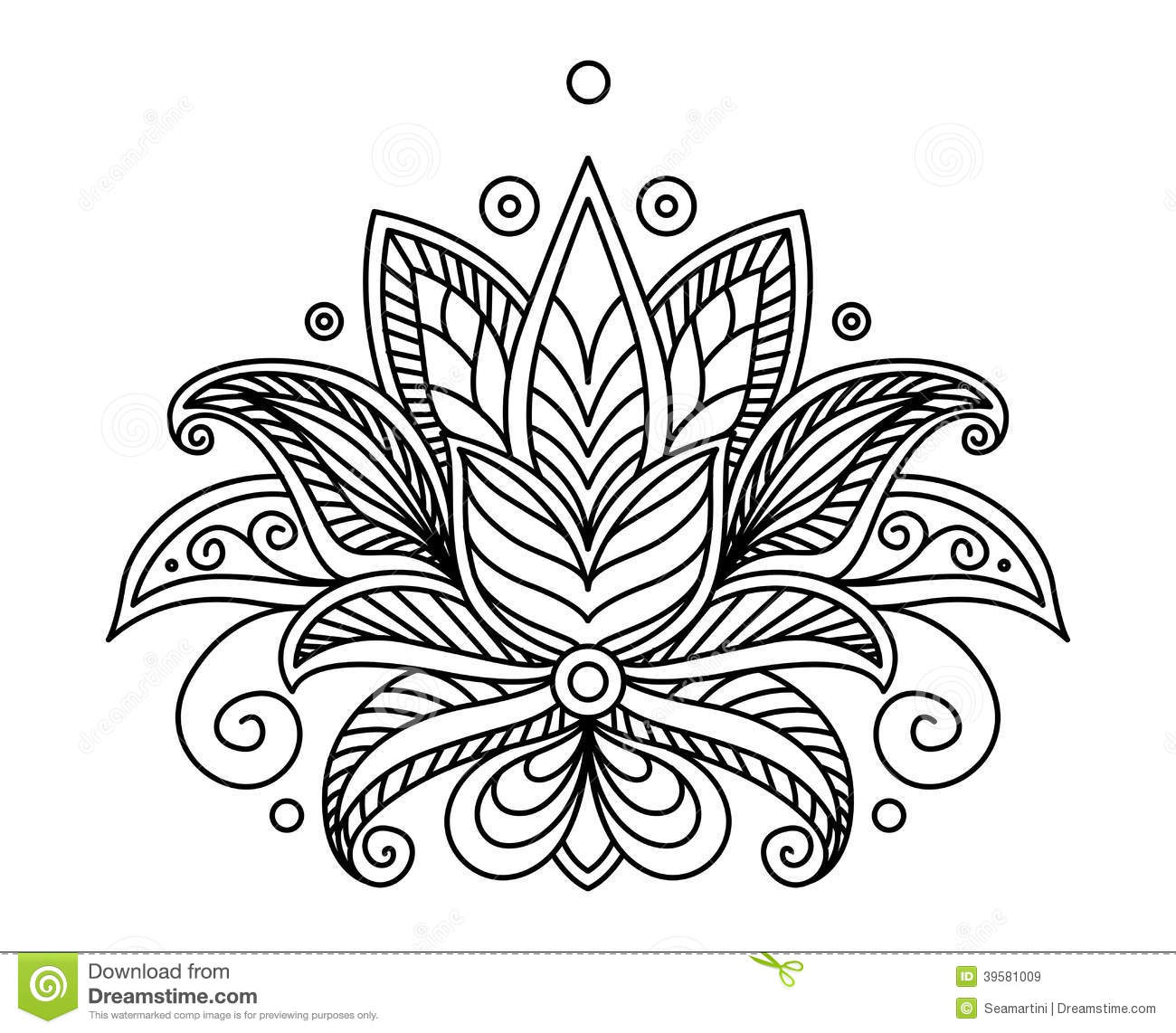 Turkish Or Persian Floral Design Stock Vector Image 39581009