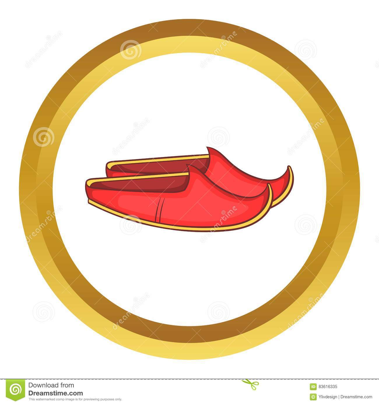 Turkish shoes vector icon