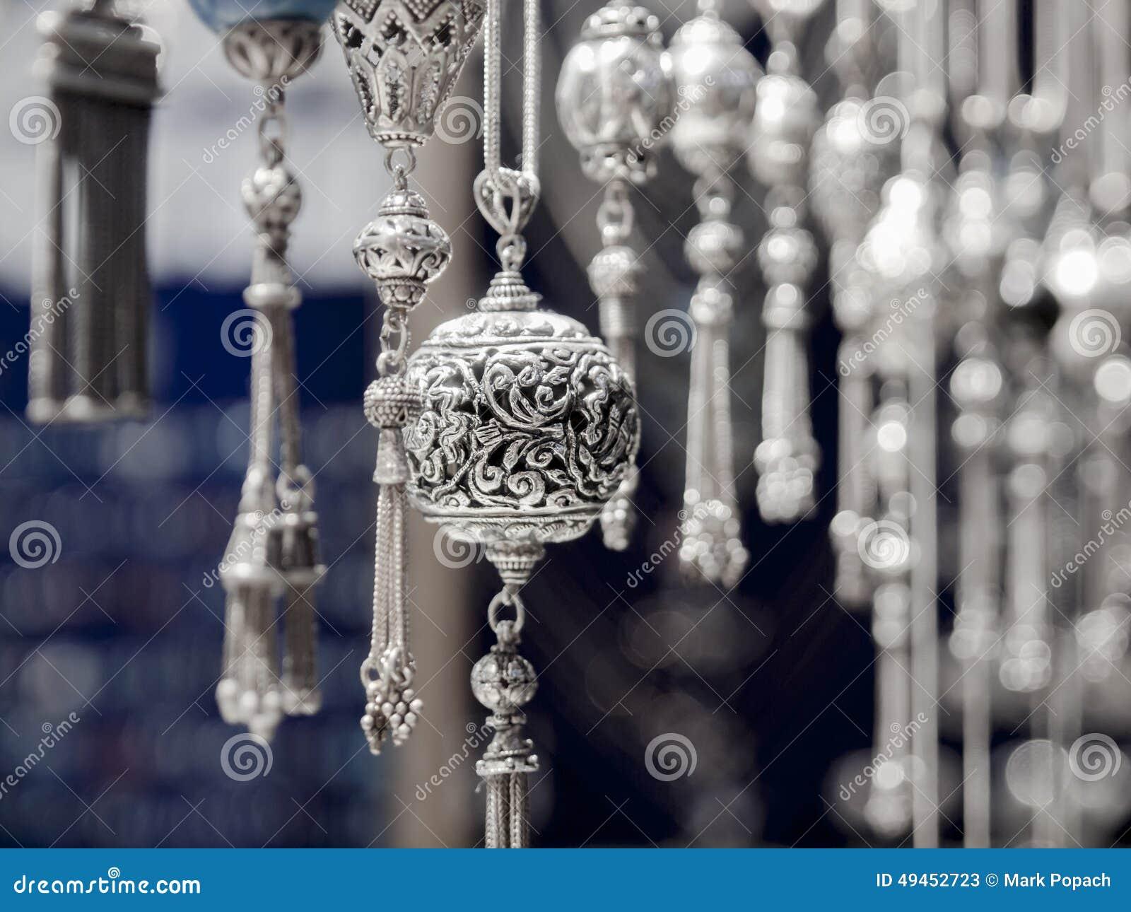 Turkish Silver Handmade Stock Photo Image 49452723