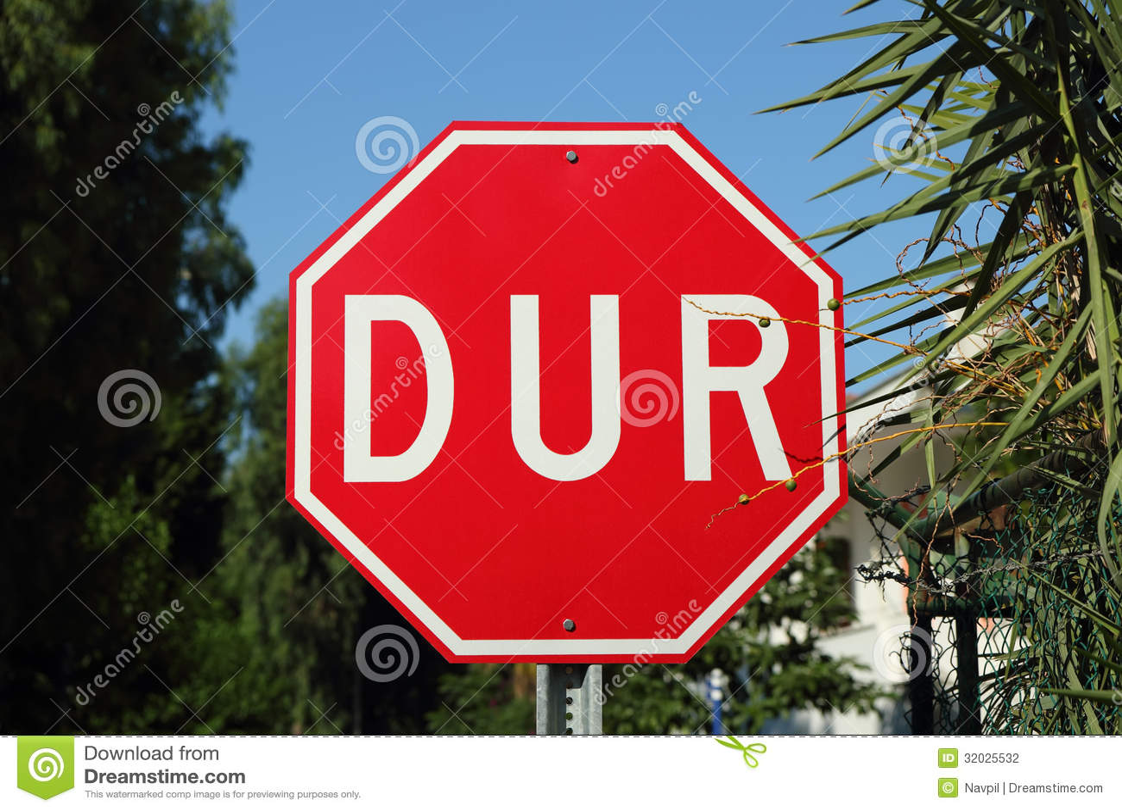 Turkish Stop Sign Stock Photo Image Of Turkish White
