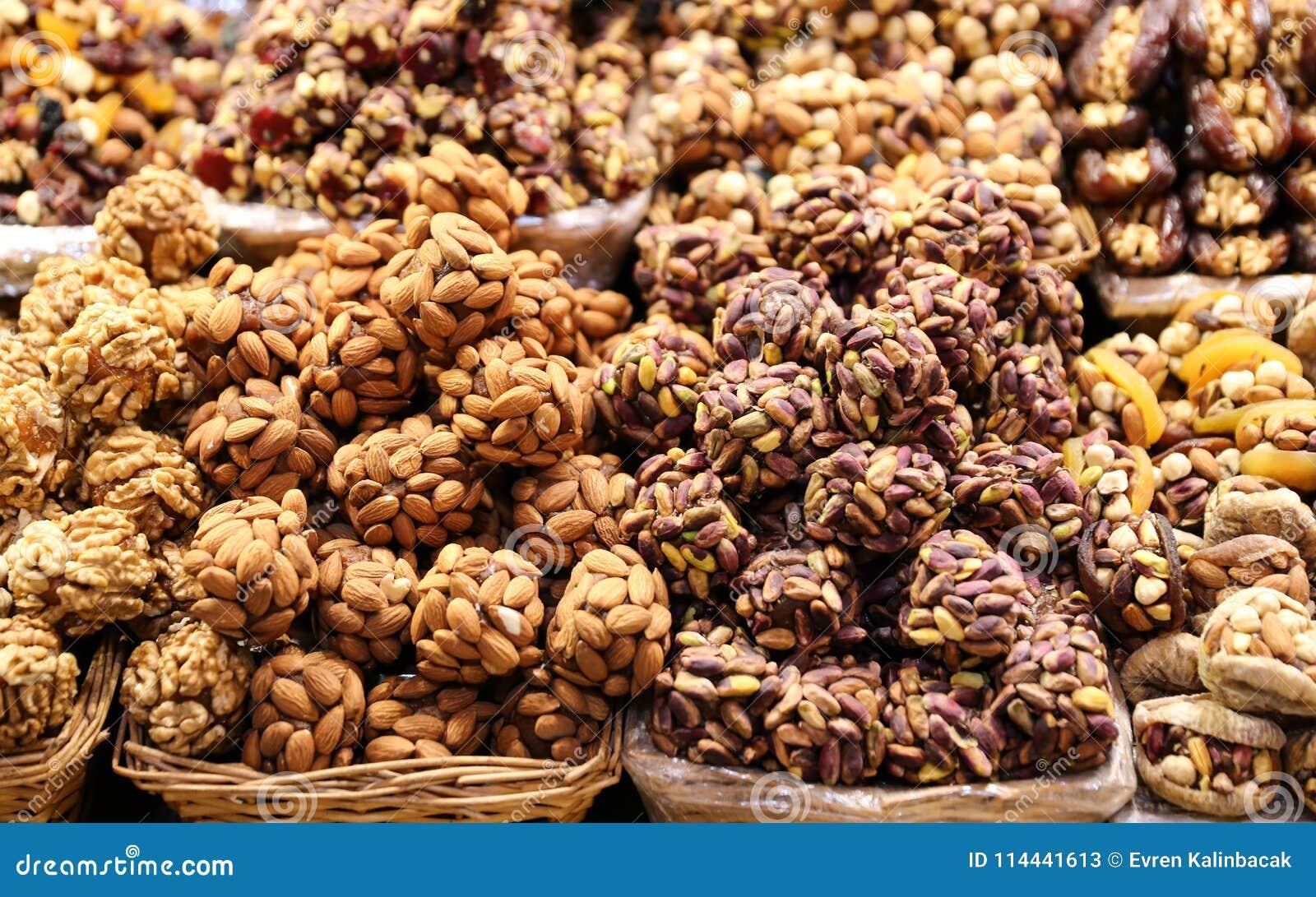 Turkish Sweets In Spice Bazaar, Istanbul, Turkey Stock Image - Image