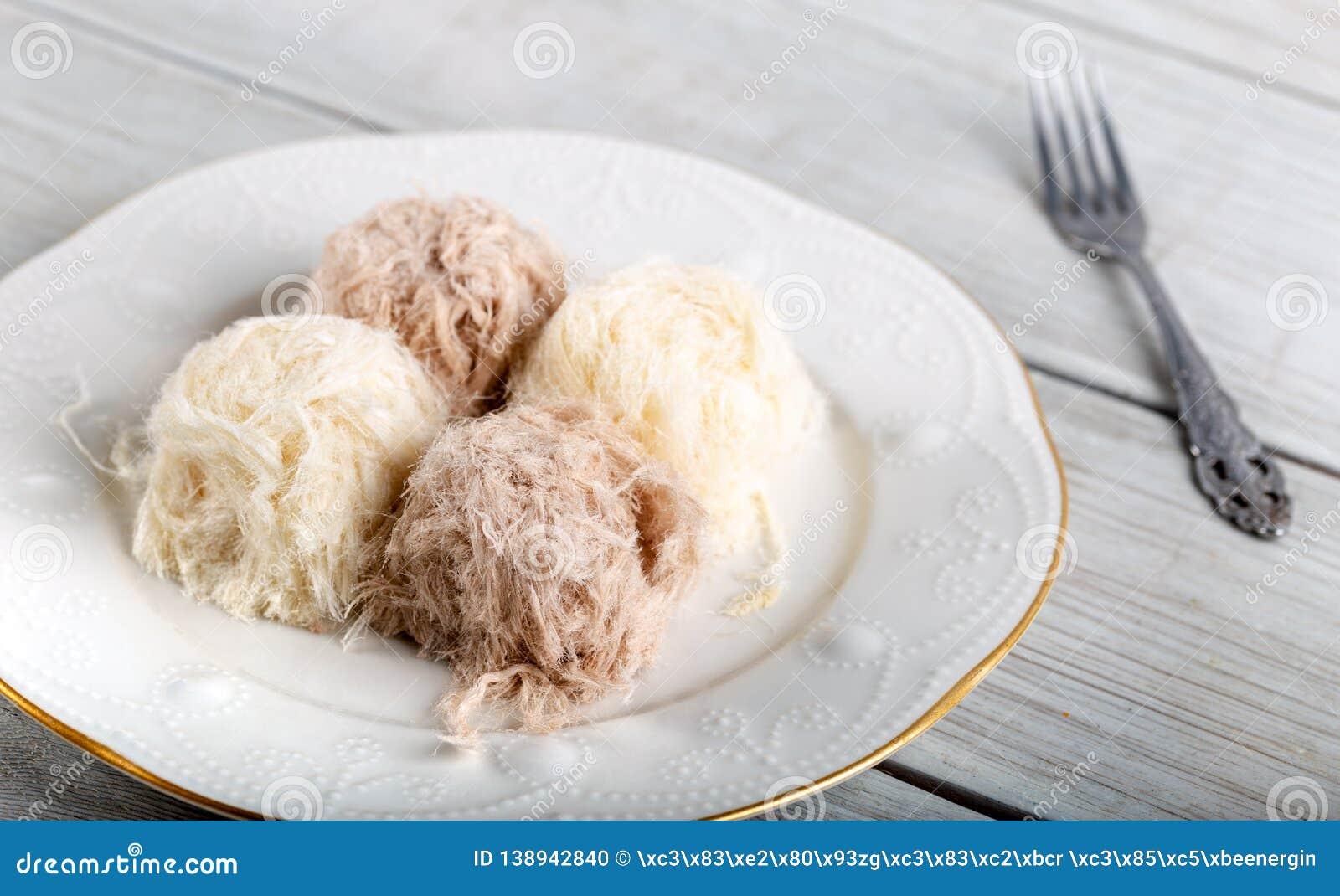 Turkish Traditional Dessert Pismaniye, Cotton Candy,