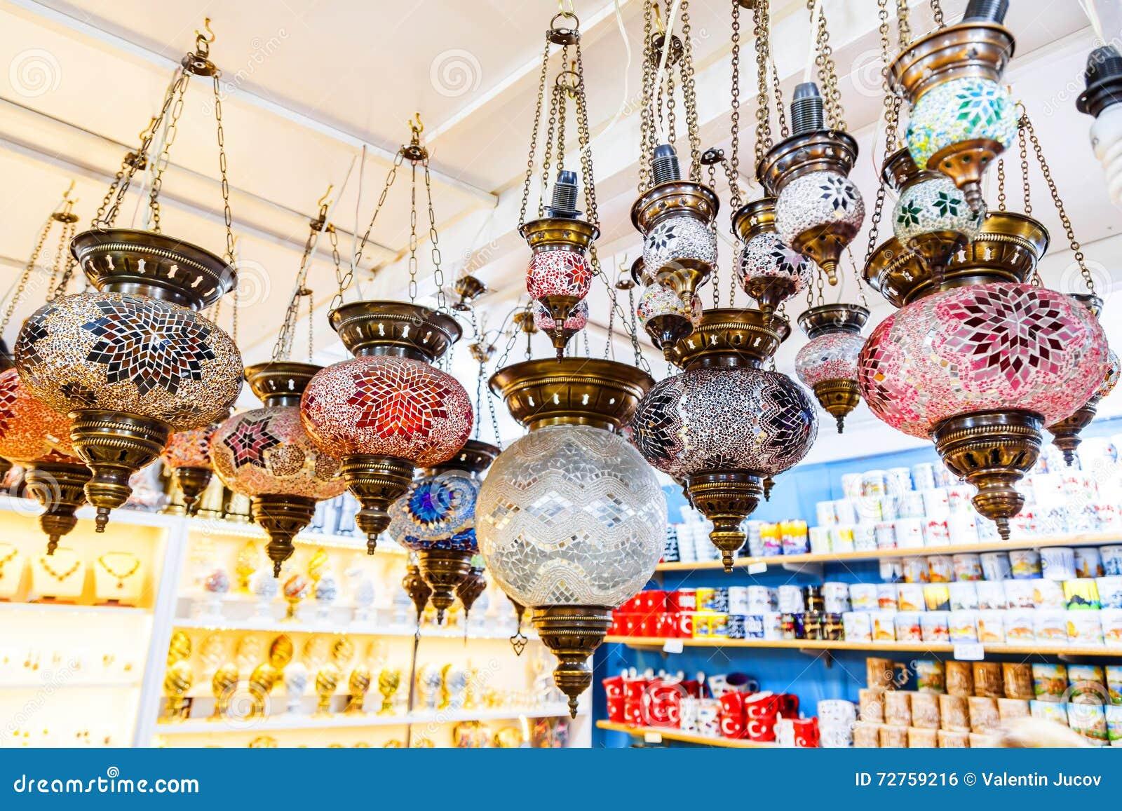 Turkiska lampor för traditionell tappning, lyktor (hängande mosaikglas