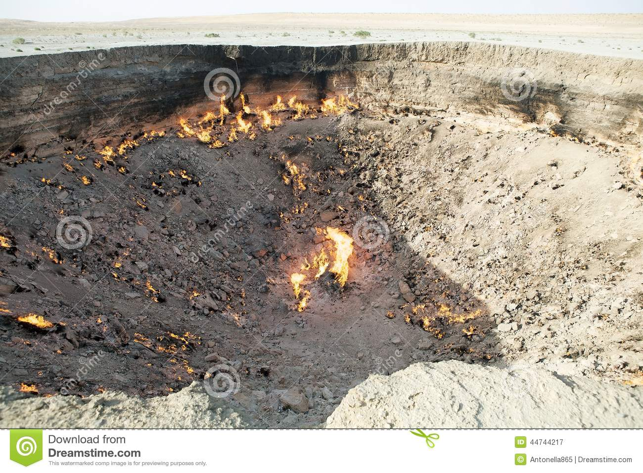 Soviet Natural Gas Fire