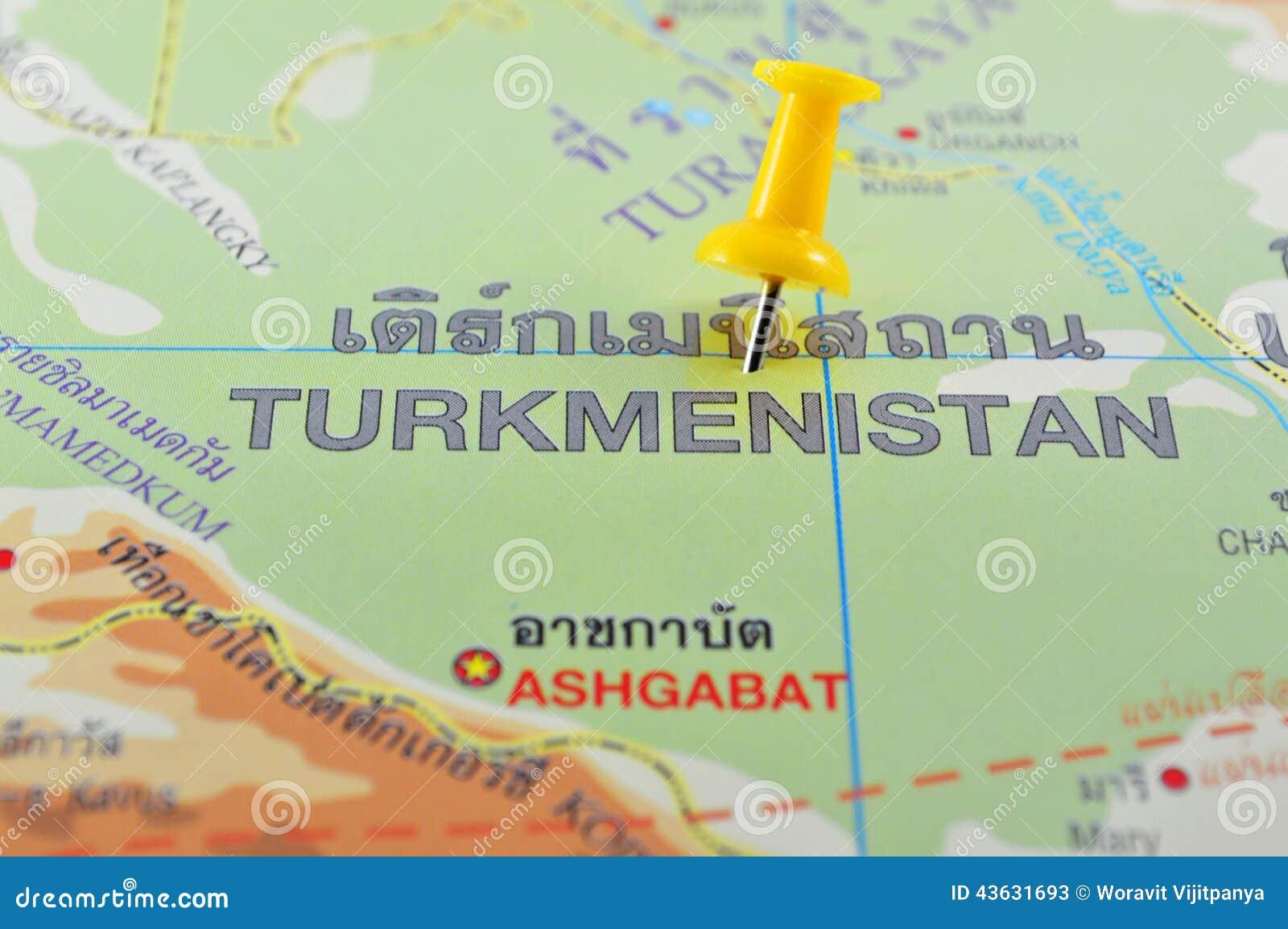Turkmenistan-Karte