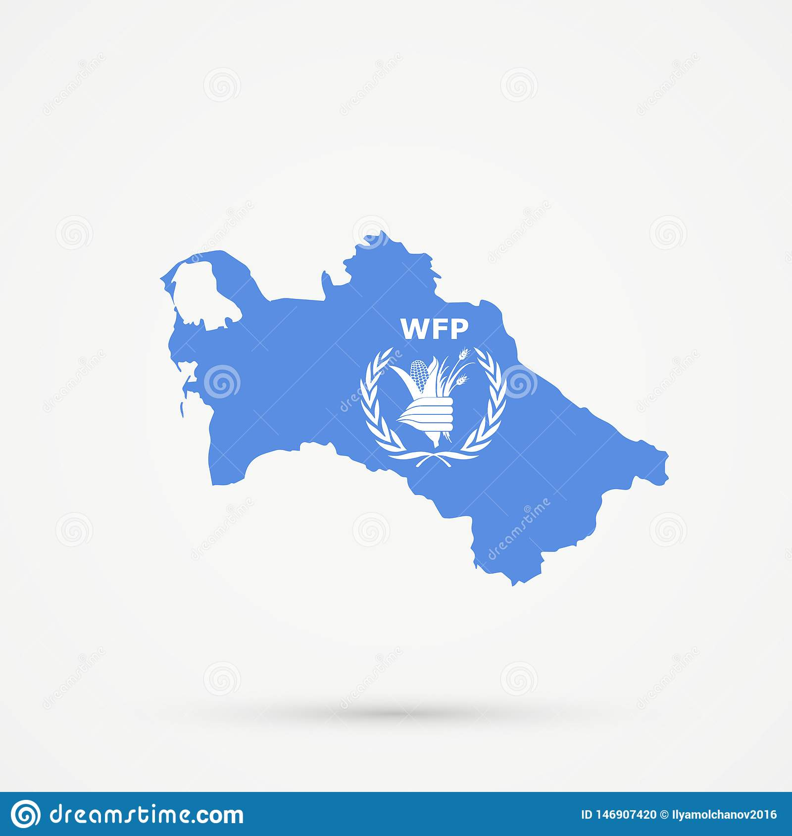 Turkmenistan Map In World Food Programme Wfp Flag Colors Editable Vector Editorial Image Illustration Of Vector Editable 146907420