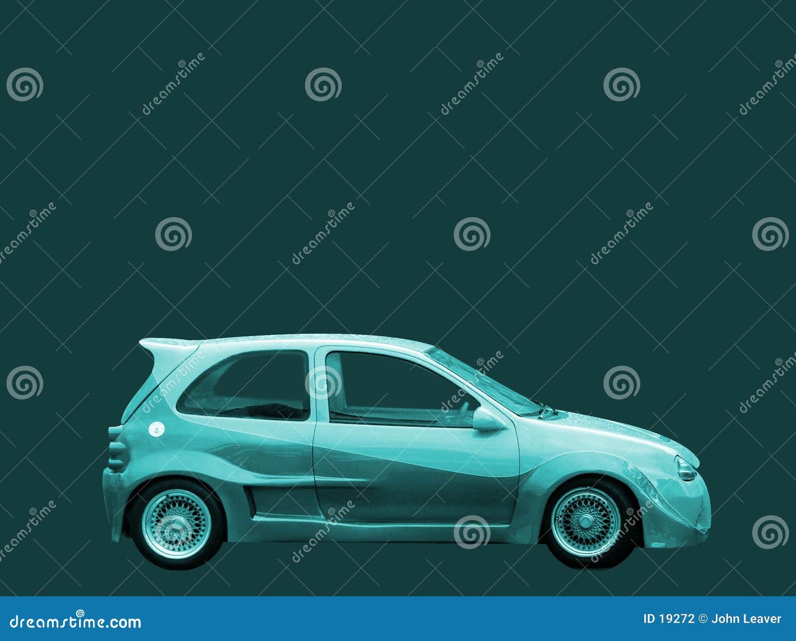 Turkooise auto