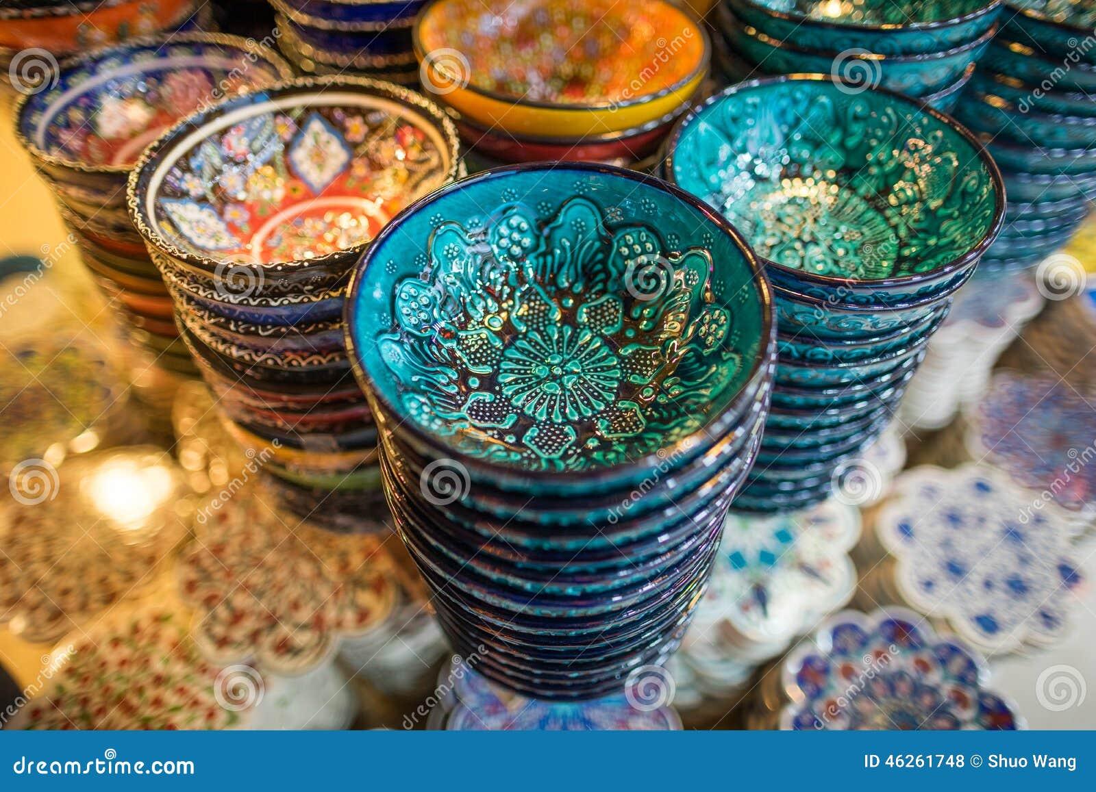 Turkse chinawarein Grote Bazaar