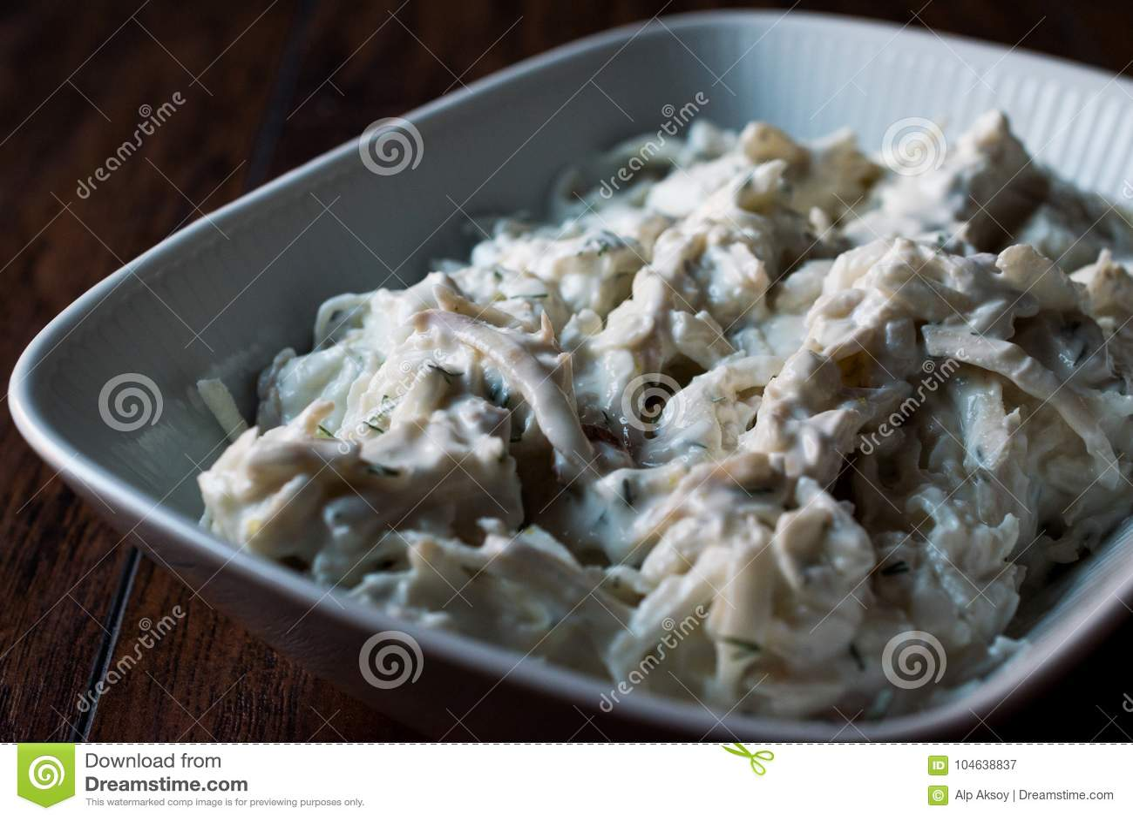 Download Turkse Selderiesalade Met Yoghurt En Mayonaise/kereviz Salatasi Stock Afbeelding - Afbeelding bestaande uit maaltijd, gastronomisch: 104638837