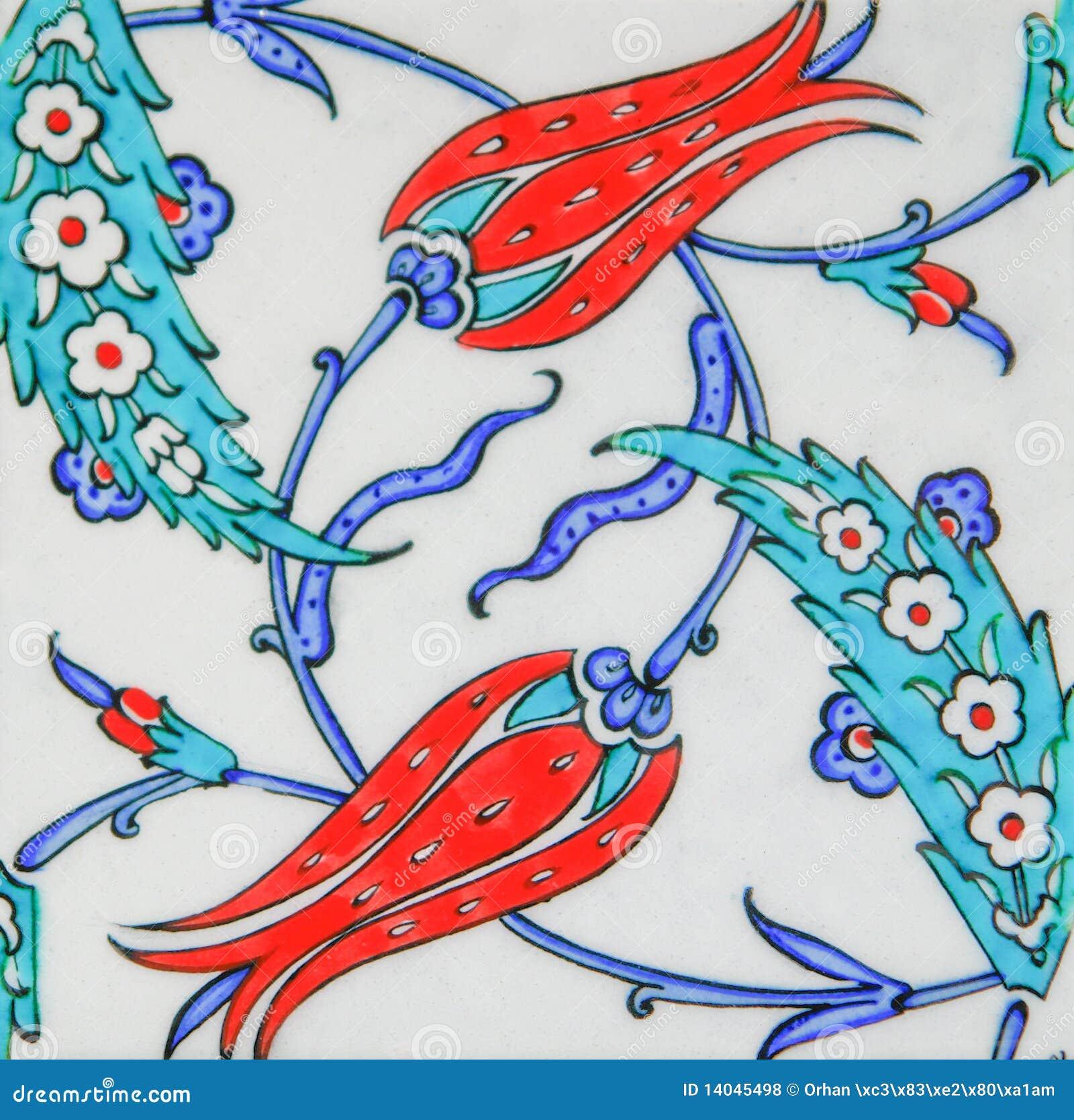 Turkse Tegels   Het Ontwerp Van De Tulp Royalty vrije Stock Foto u0026#39;s   Beeld  14045498