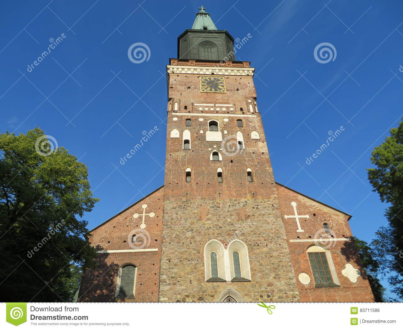 Turku Cathedral. Finland Stock Photo