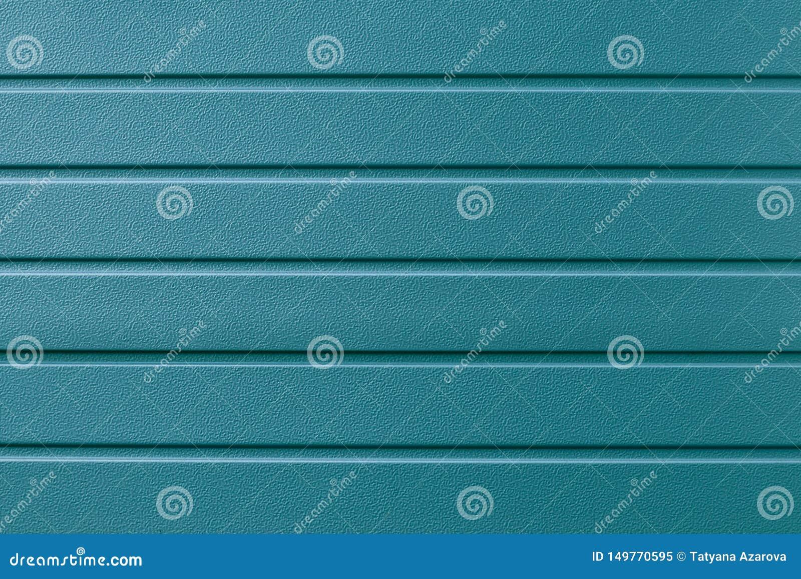 Turkusowa kruszcowa pasiasta powierzchnia Metalline ścienny popierać kogoś, powlekanie Abstrakta zieleń bruzdkujący tło, wzór Błę