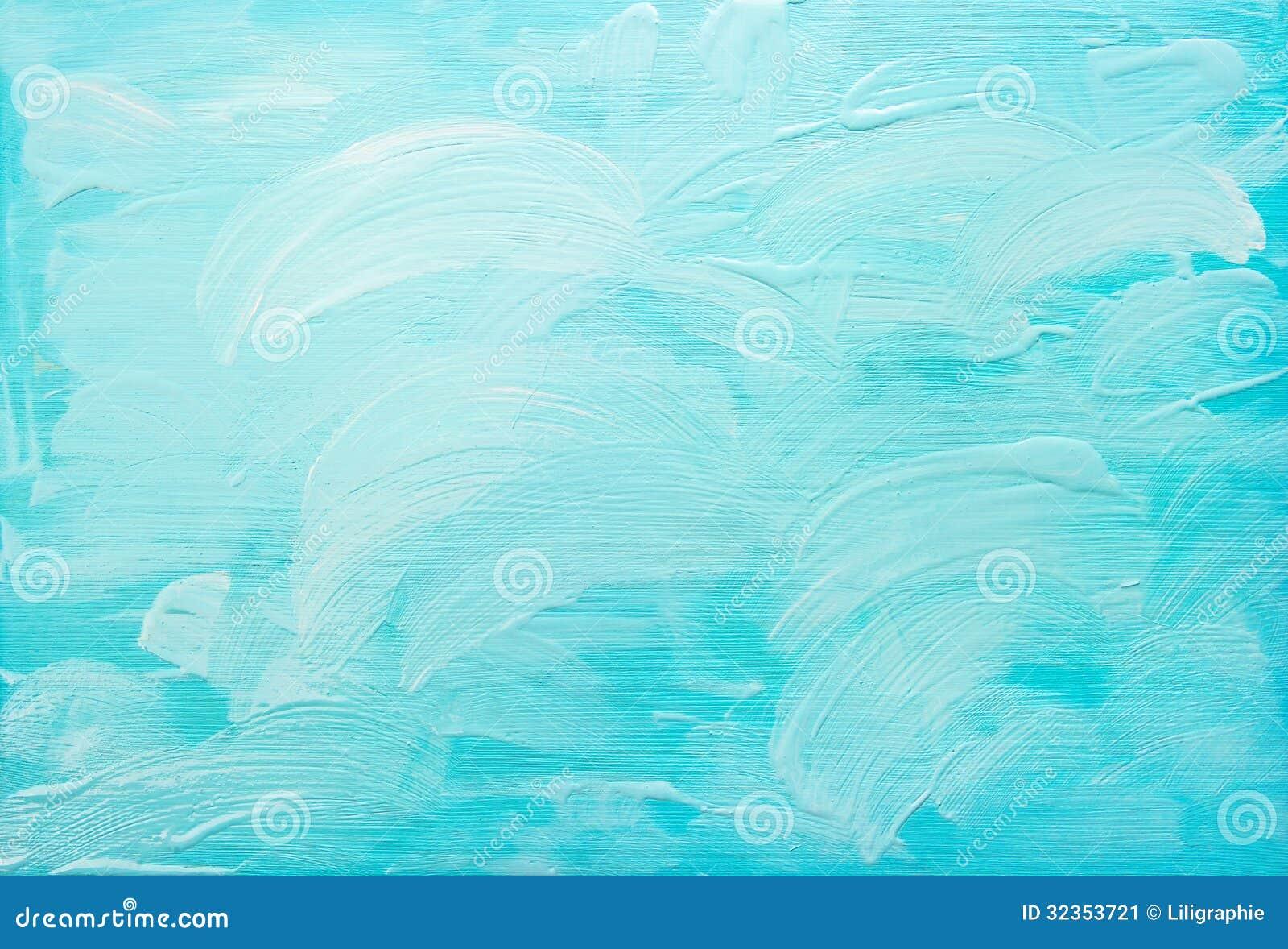 Turkusowego błękita abstrakcjonistyczny akrylowy tło