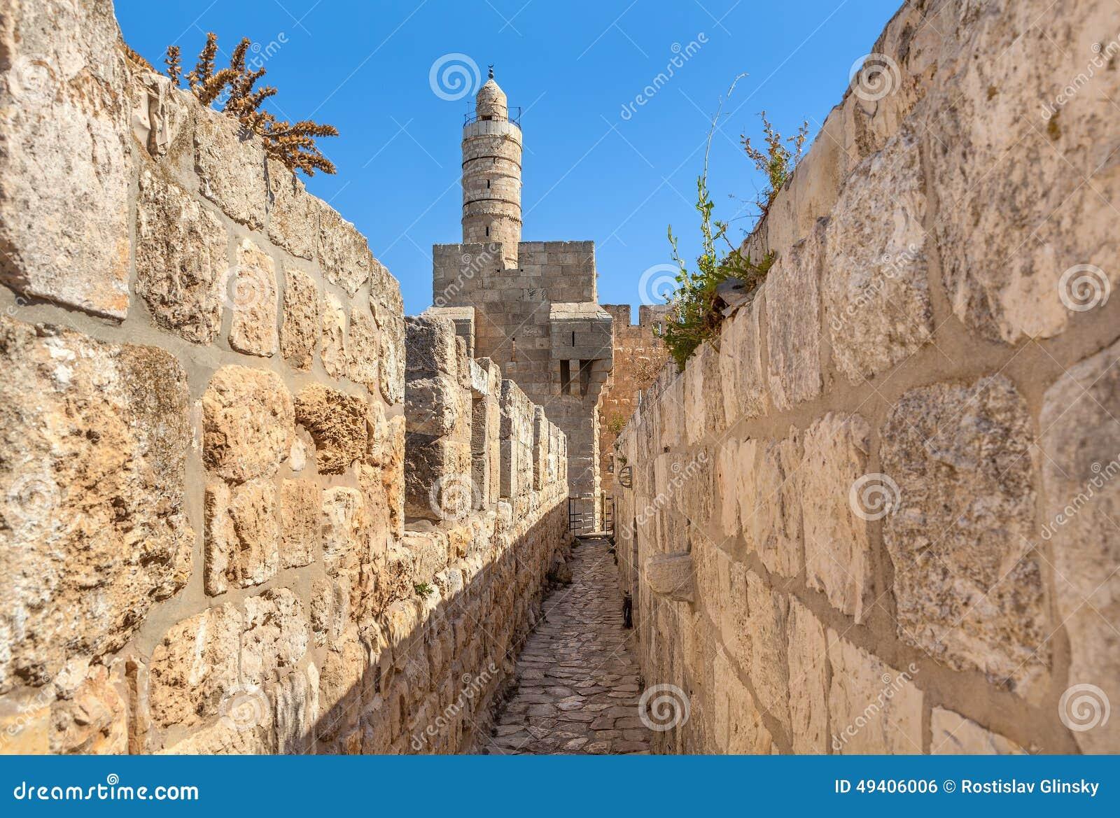 Download Turm Von David Und Von Alten Wänden In Jerusalem Stockfoto - Bild von wand, jüdisch: 49406006