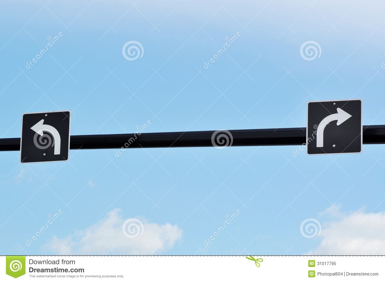 Turn around sign stock image image 35488961 - Turn Left And Right Traffic Sign Royalty Free Stock Photo