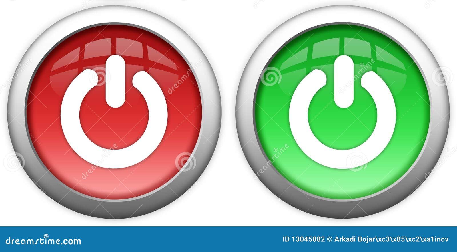 turn on off button stock illustration illustration of buttons