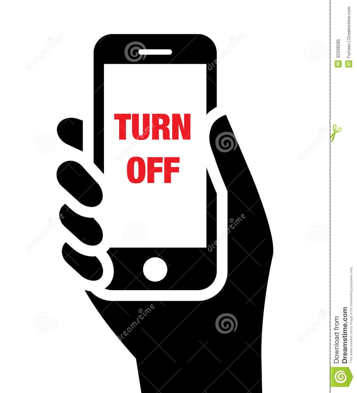 Turn Off Mobile Phones Icon Stock Vector - Illustration of ...