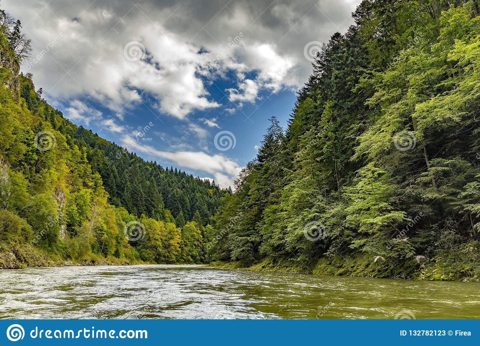 The turn of the river Dunajec