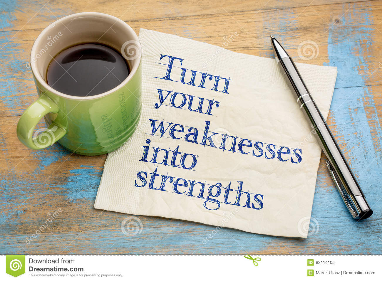turn your weaknesses into strengths stock photo image 83114105 turn your weaknesses into strengths