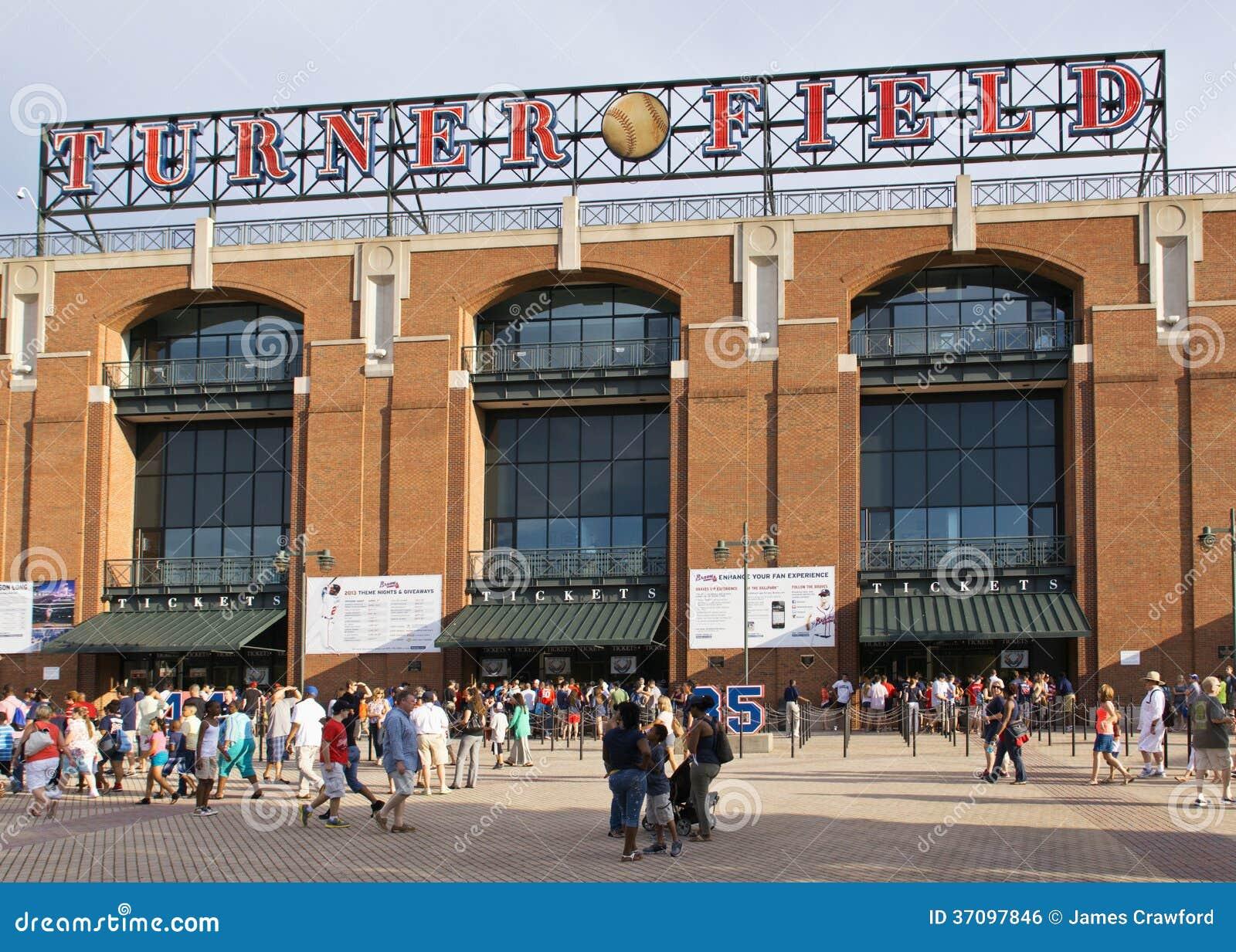 reputable site 16e24 73d93 Turner Baseball Field Atlanta Braves Editorial Photo - Image ...