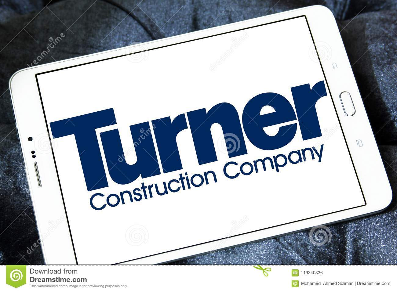 Turner Construction Company Logo Editorial Photo - Image of