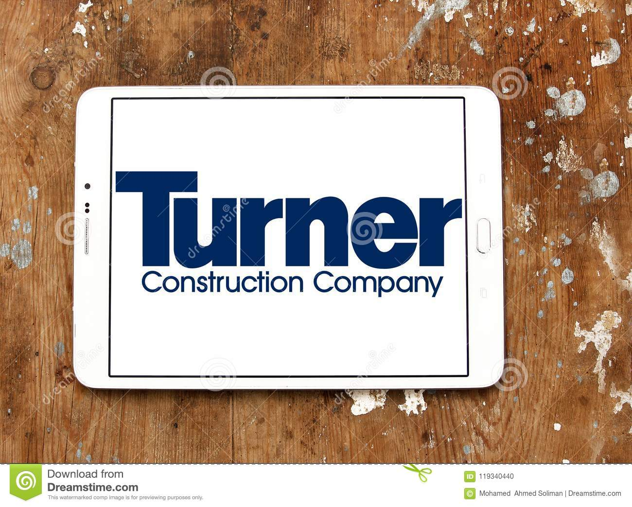 Turner Construction Company Logo Editorial Image - Image of