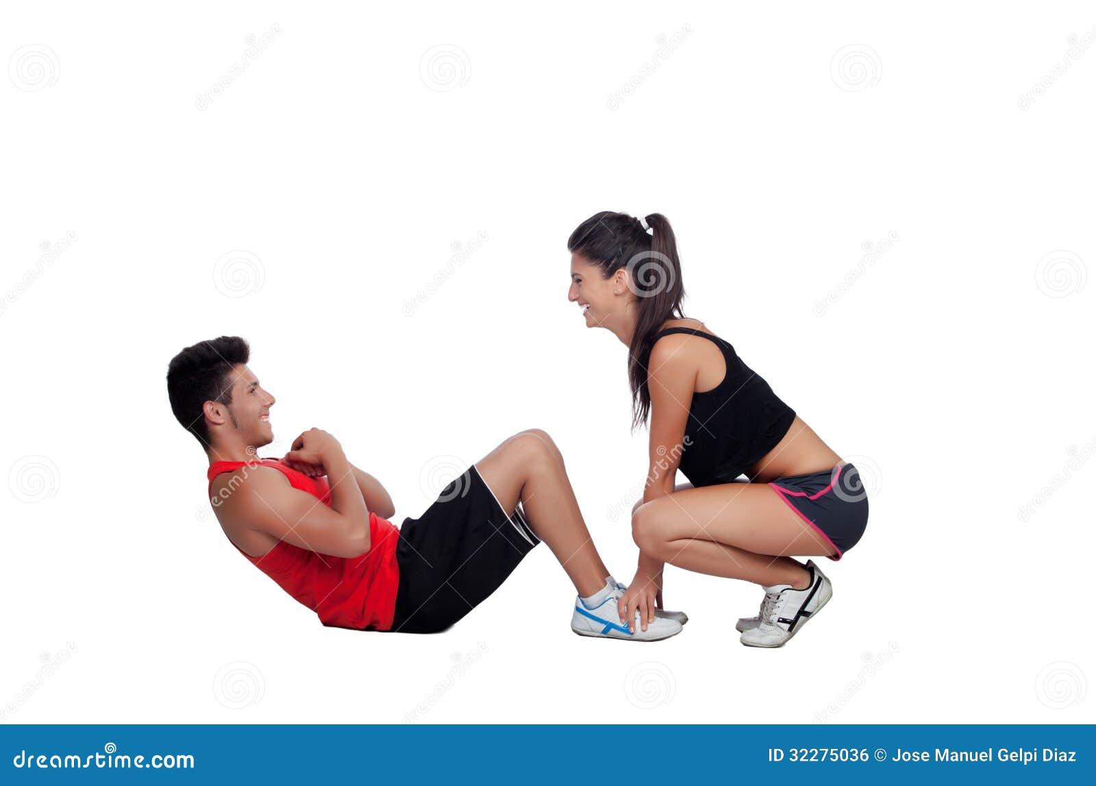 Trainingsfick Mit Trainer