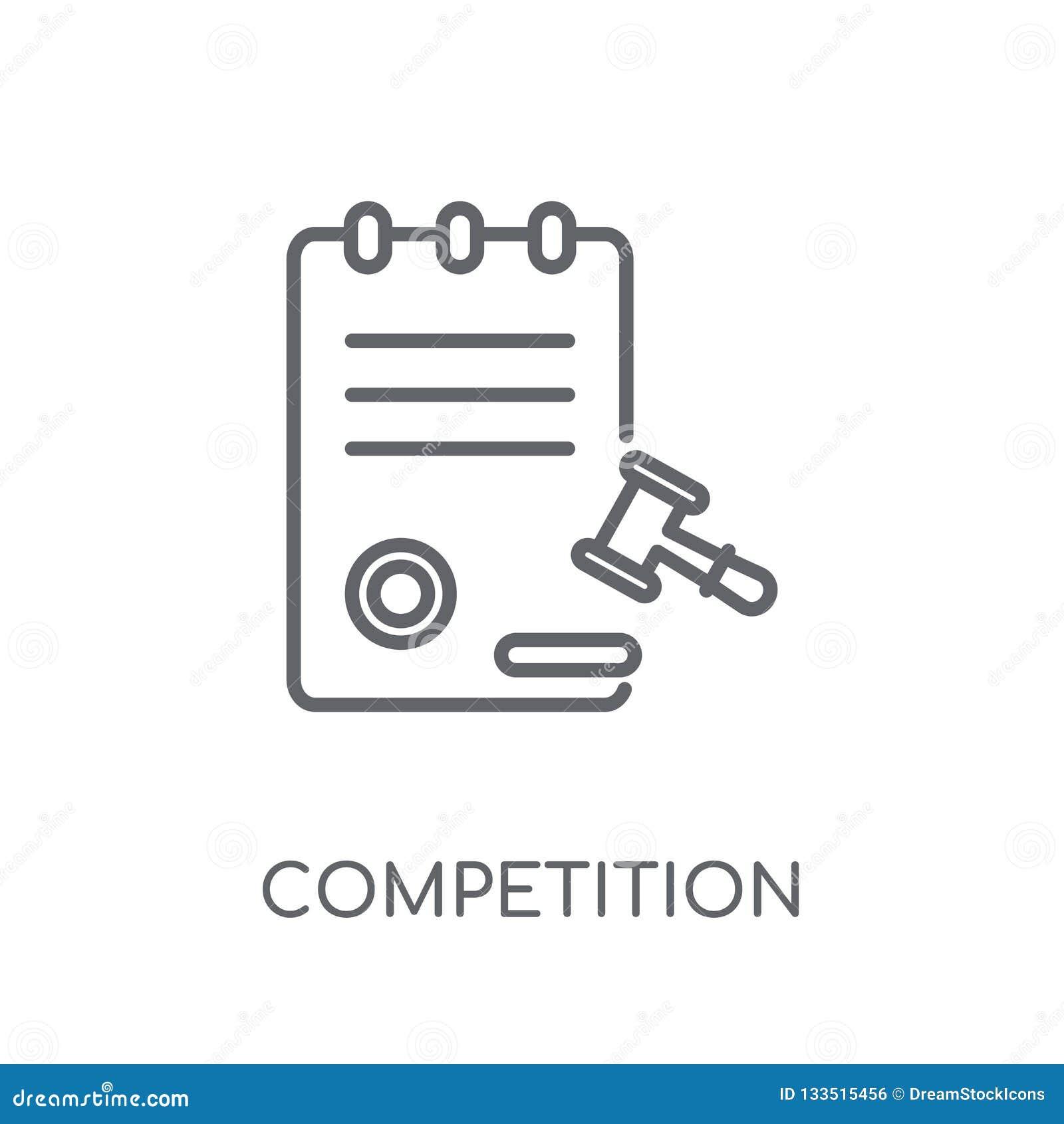 Turniejowej prowizji liniowa ikona Nowożytna kontur rywalizacja C