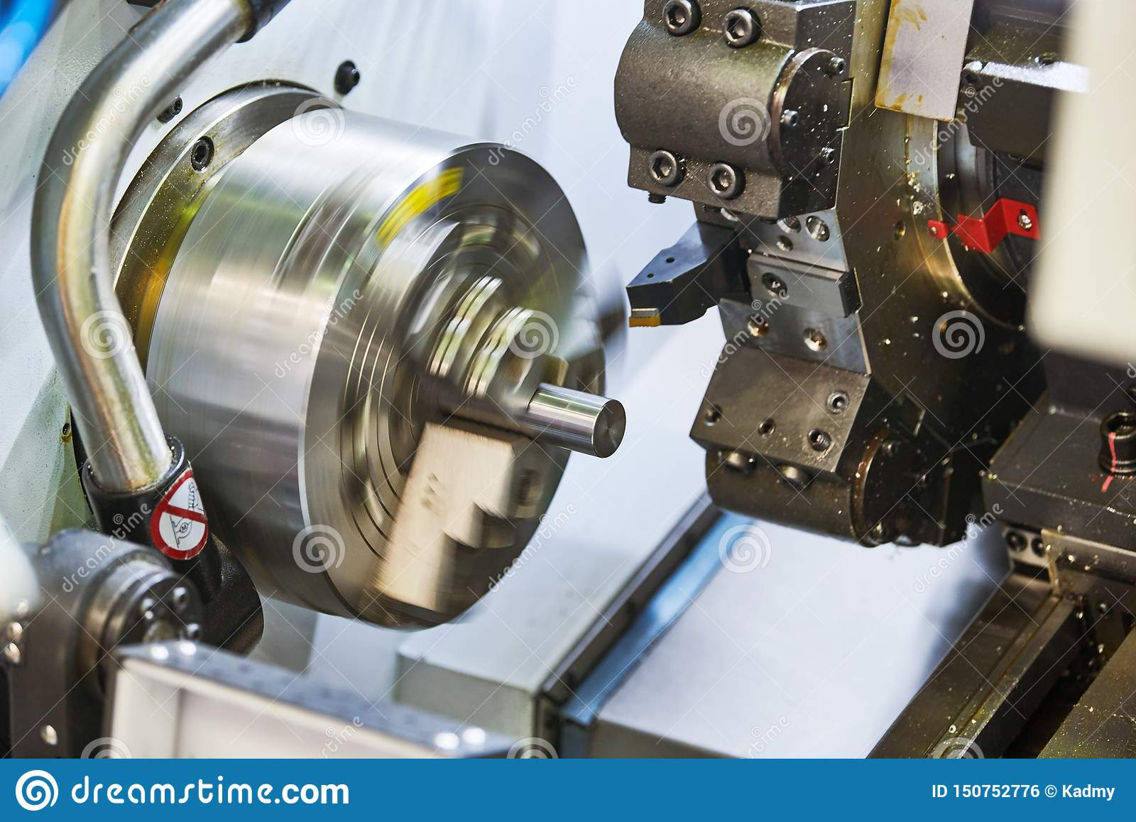Turning Cnc Machine At Metal Work Industry  Precision