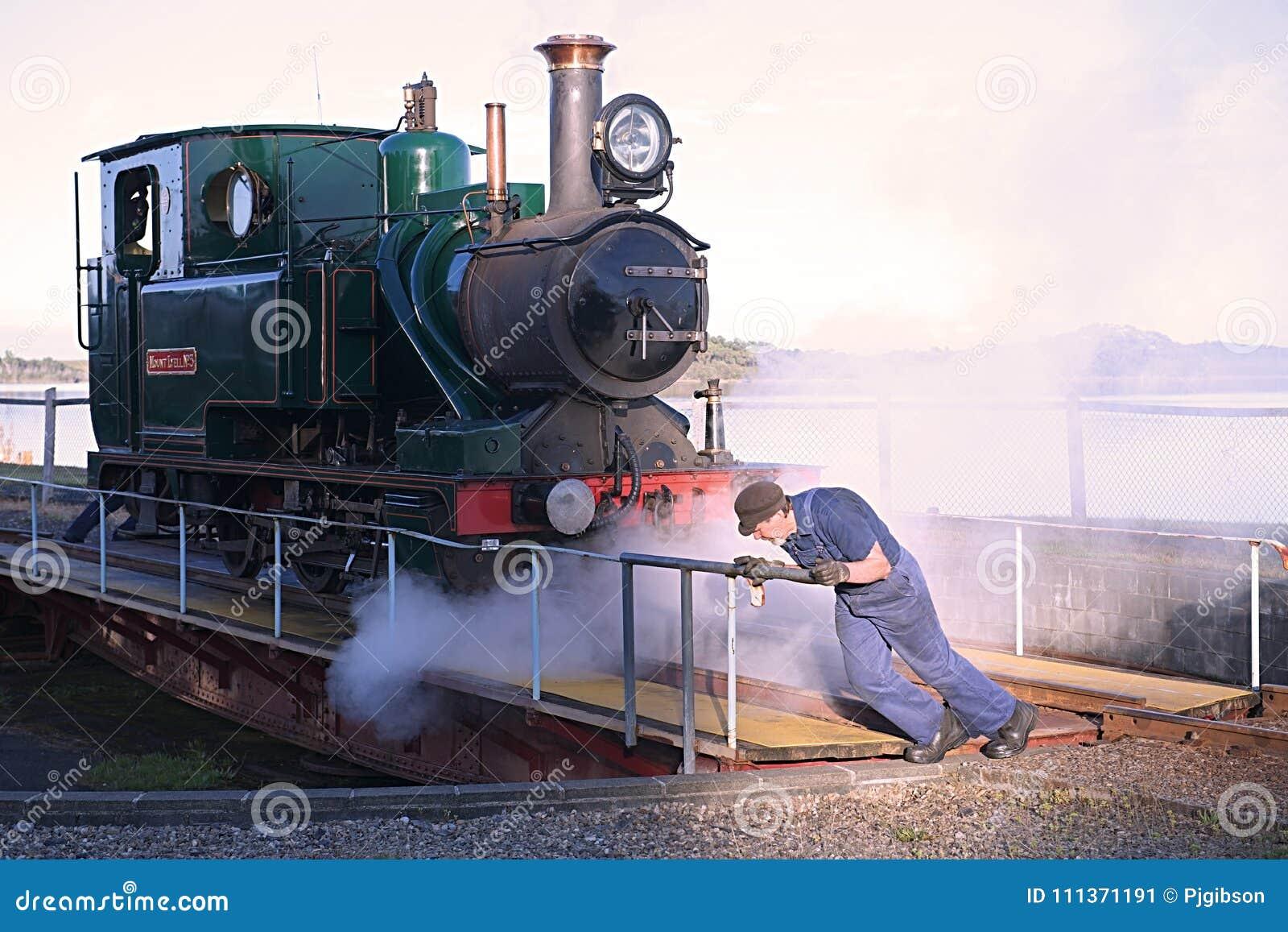 Turning The Steam Train Strahan Tasmania Editorial Photo