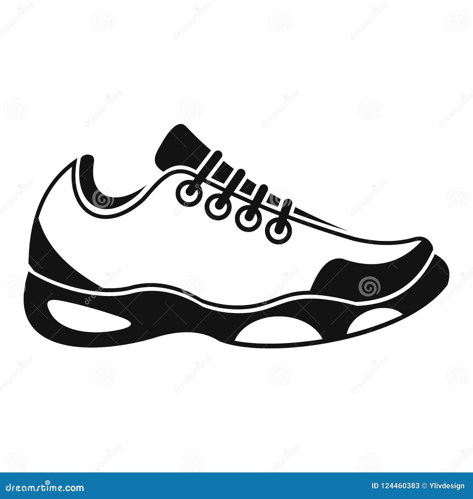 TennisikoneEinfache Chaussures Tennis Für de Stock Abbildung Art mO80vwNn