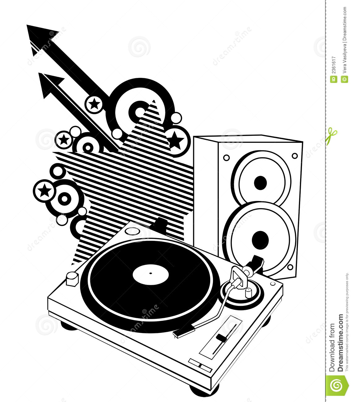 Turntable And Speaker Royalty Free Stock Photography ...