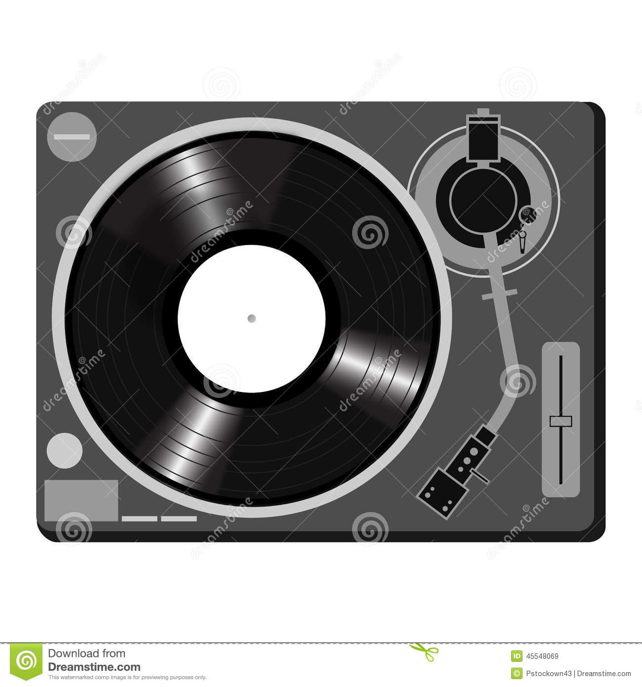 Turntable vector Royalty Free