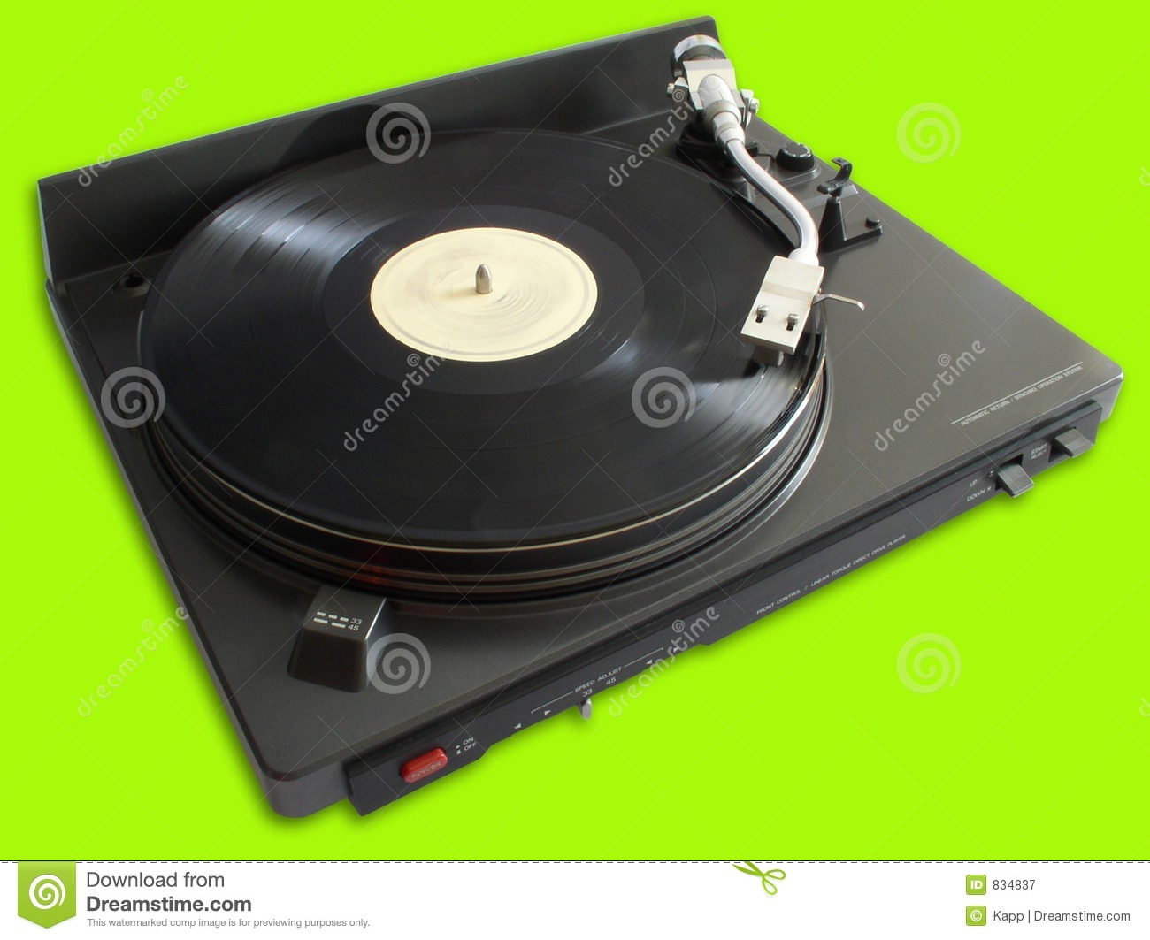 Turntable with vinyl