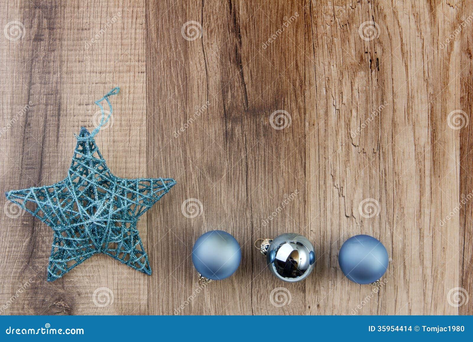 Turquesa de la decoración de la Navidad
