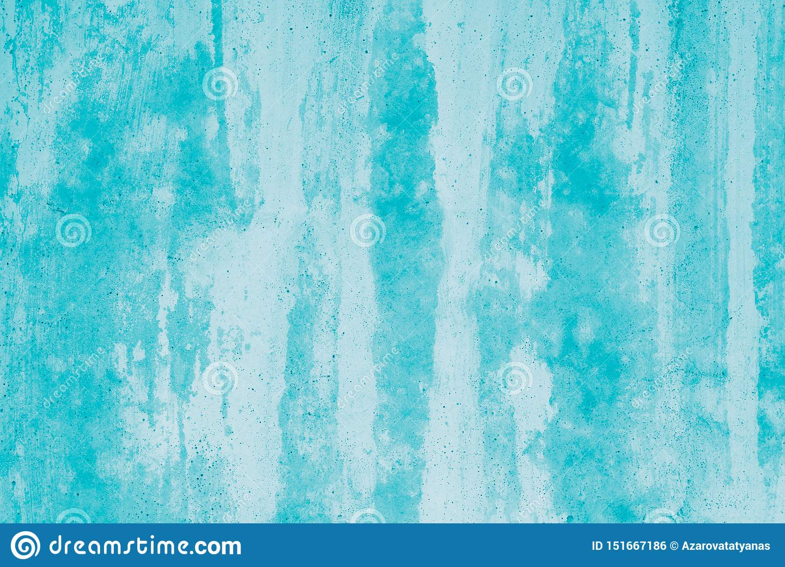 Turquoise abstract mockup. Green background with paint stains. Modern art. Blots on canvas, backdrop. Illustration. Pattern of wat