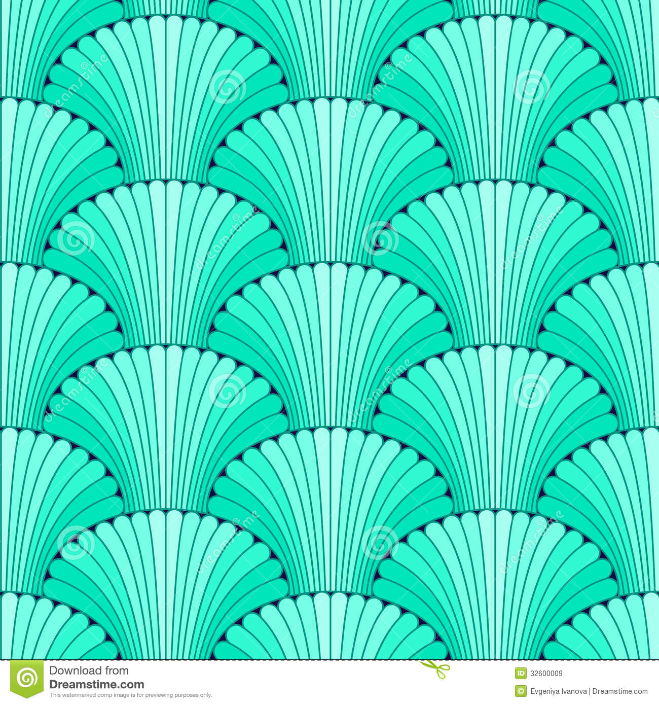Turquoise Abstract Shell Seamless Pattern Royalty Free Stock Images ...
