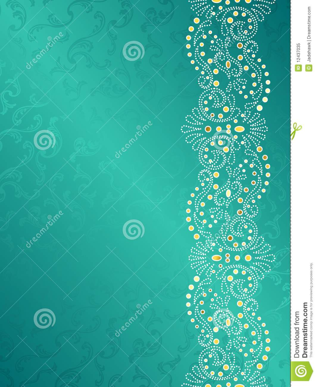 Turquoise background with delicate white margin