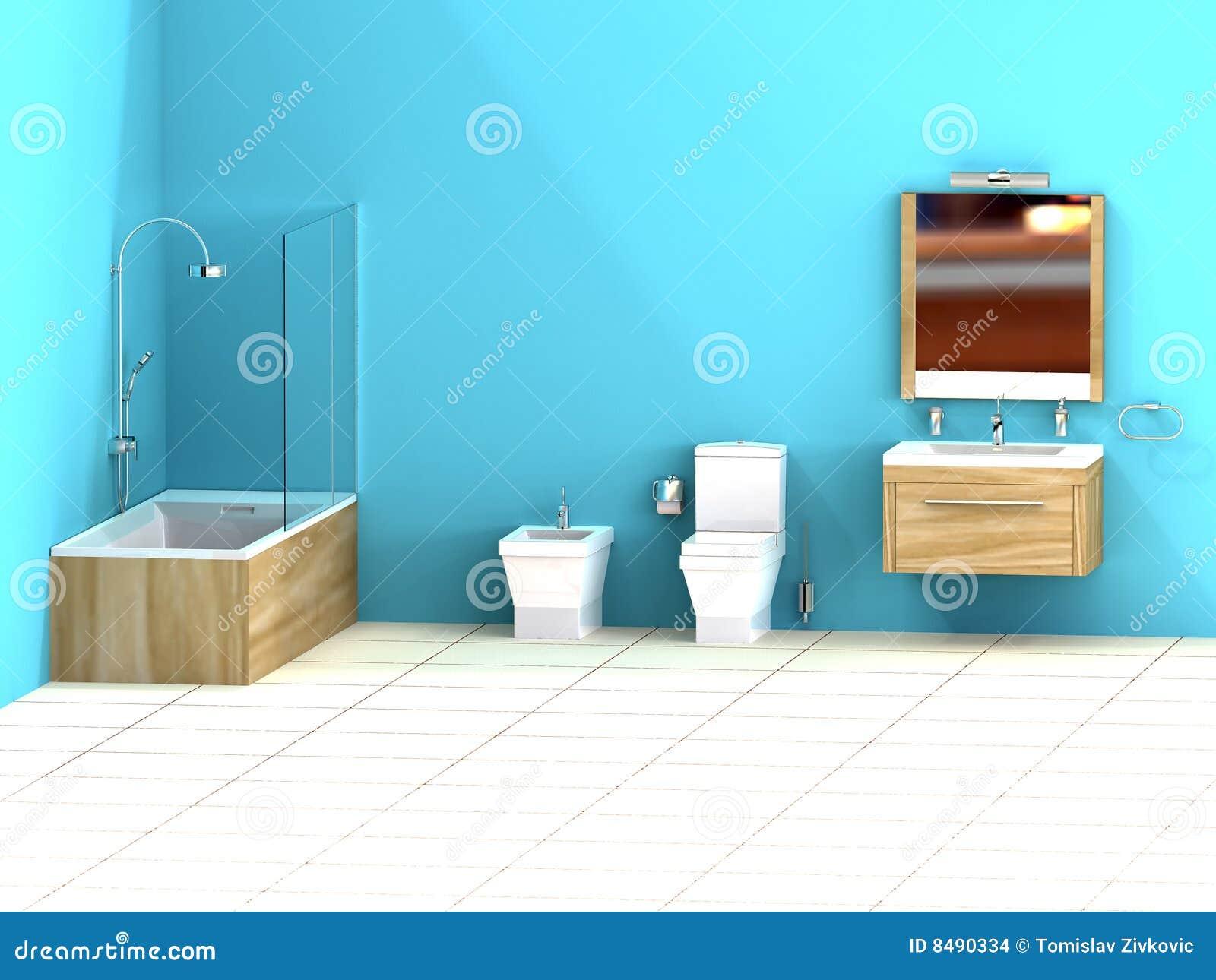 Turquoise Bathroom Stock Images Image 8490334